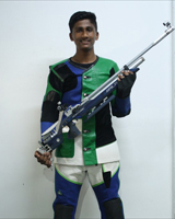 Abhishek Yashwant Vharambale  Event: 10 Meter Peep Sight Air Rife