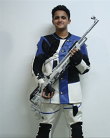 Aditya Avadhoot Salokhe  Event: 10 Meter Peep Sight Air Rifle