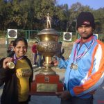 Won Gold Medal in All India University Individual.