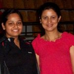 Radhika Hawaldar with Olympic Athlete Anjali Bhagwat.