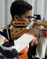 Ruturaj Rajesh Yadav  Event: 10 Meter Peep Sight Air Rifle