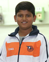 Samarth Ranjeet Mandlik  Event: 10 Meter Air Pistol
