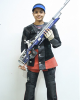 Vaishnavi Vijay Padalkar  Event: 10 Meter Peep Sight Air Rifle
