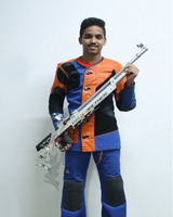 Viraj Patil  Event: 10 Meter Open Sight Air Rifle